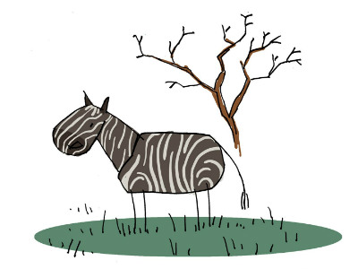 Moral Stories for Children: Why Zebras have black and white stripes