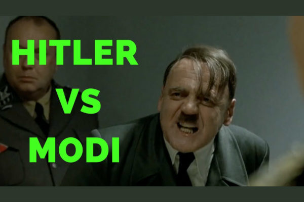 Hitler reacts to Modi's UP election win