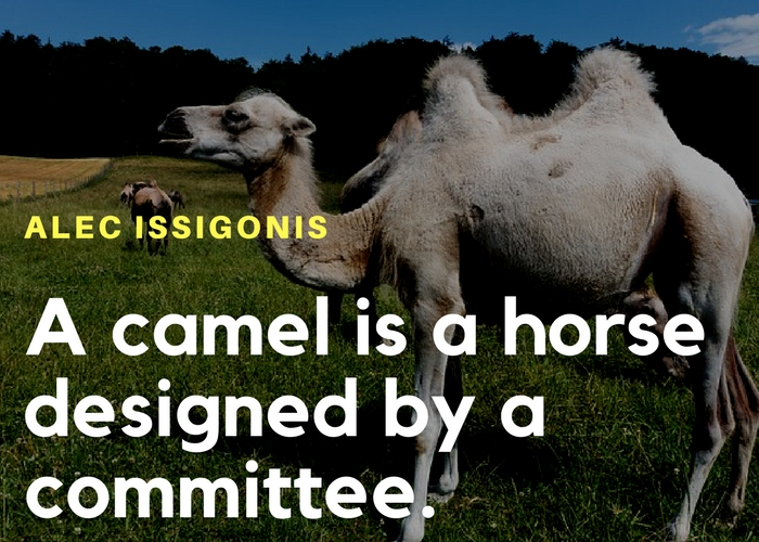 Funny quote on camel as designed by committee