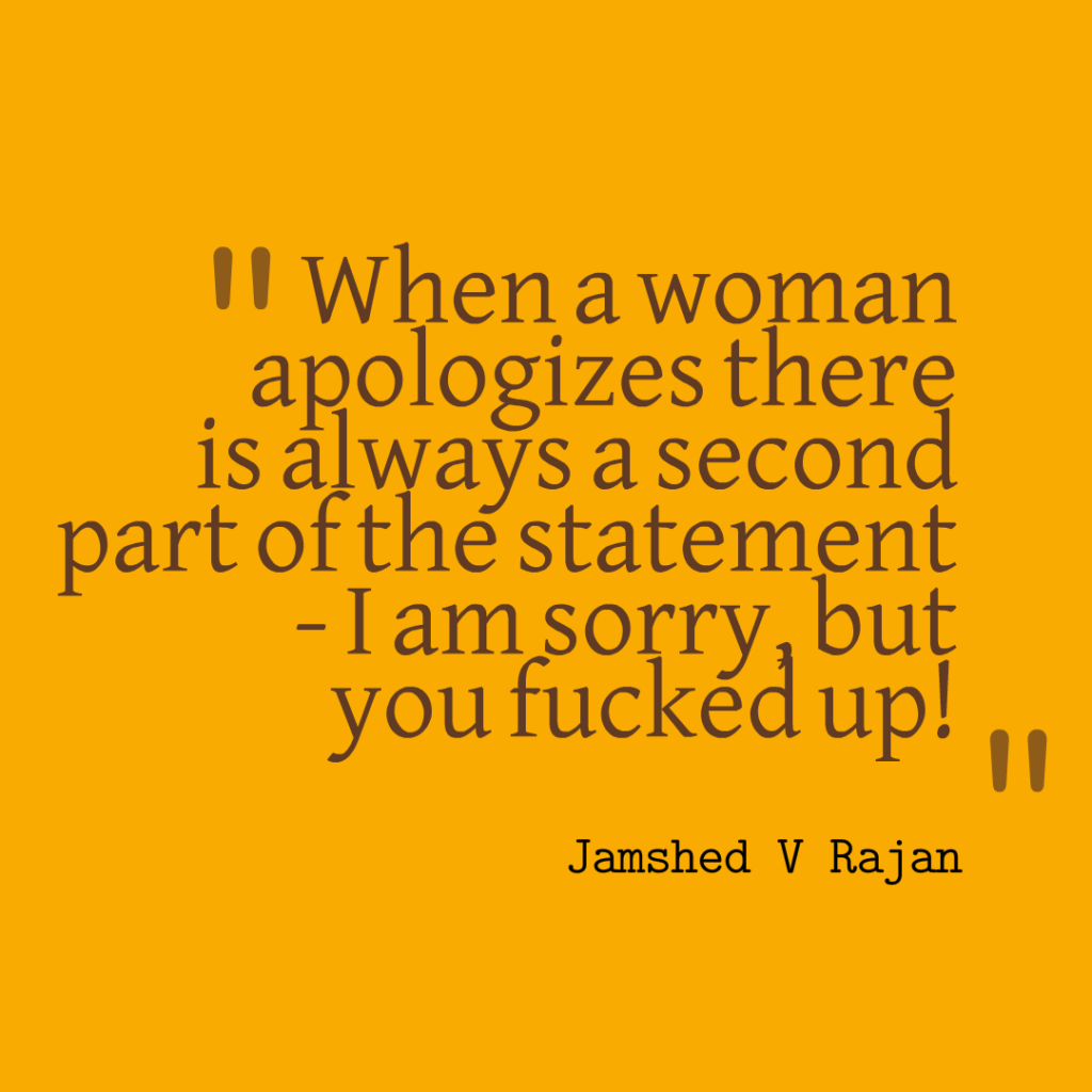 Do women apologize