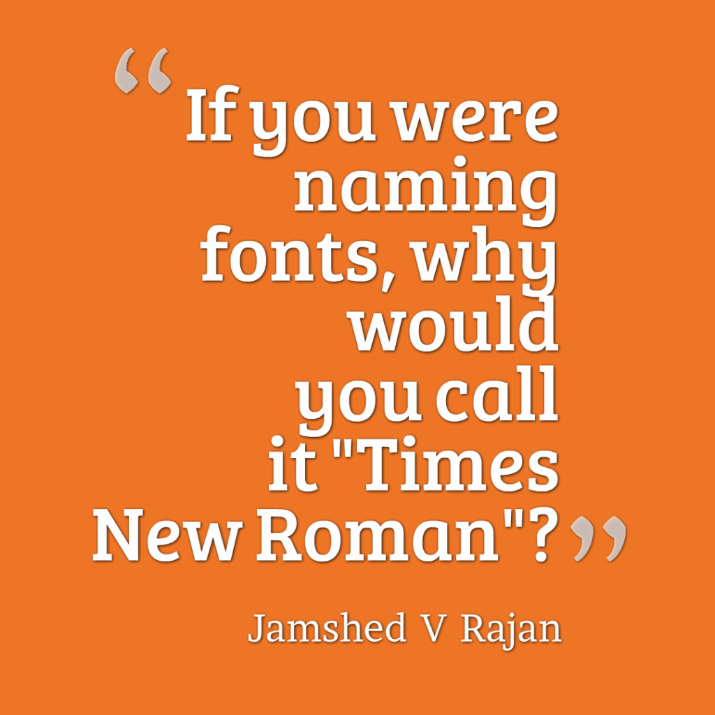 How not to name a font