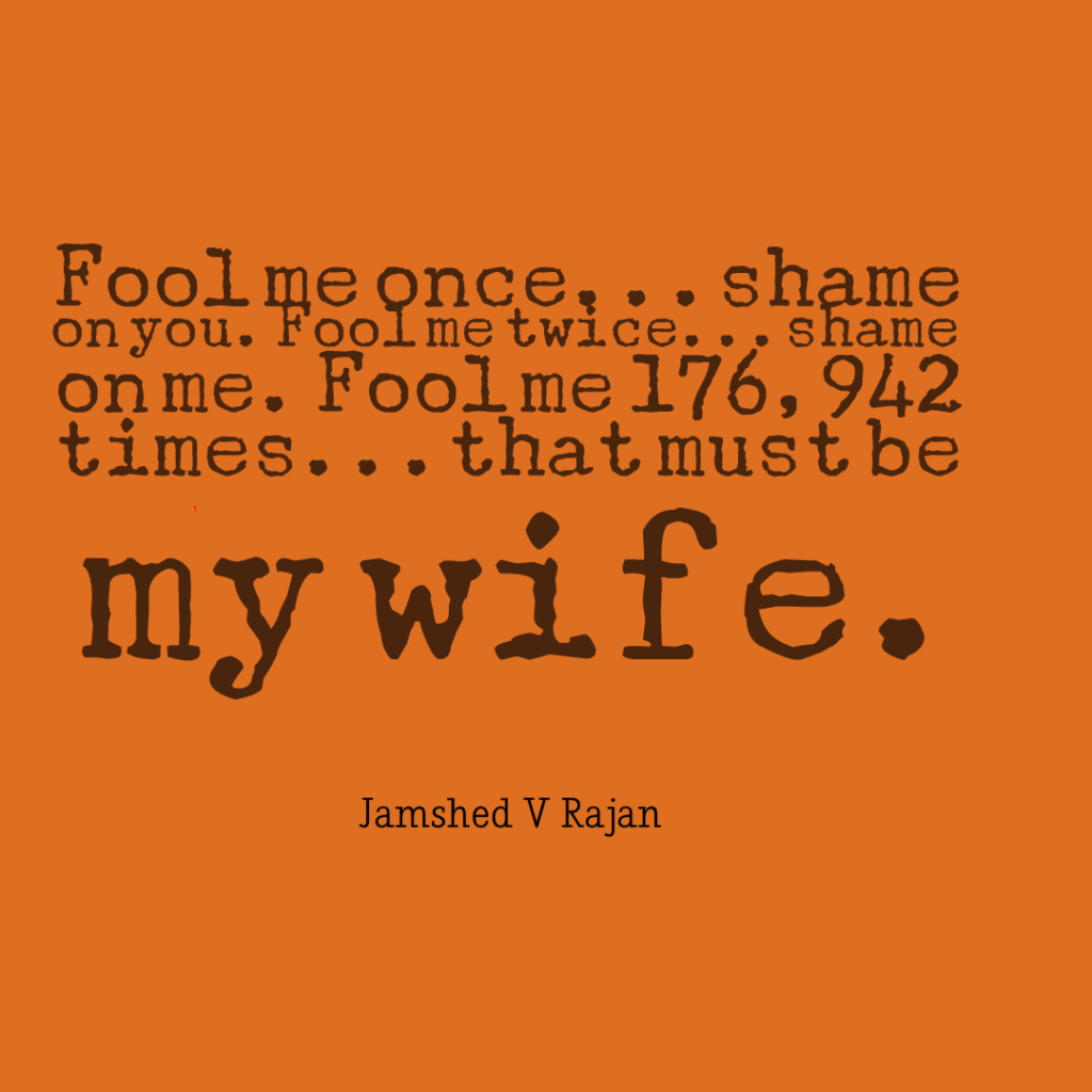 How often do wives fool the husband