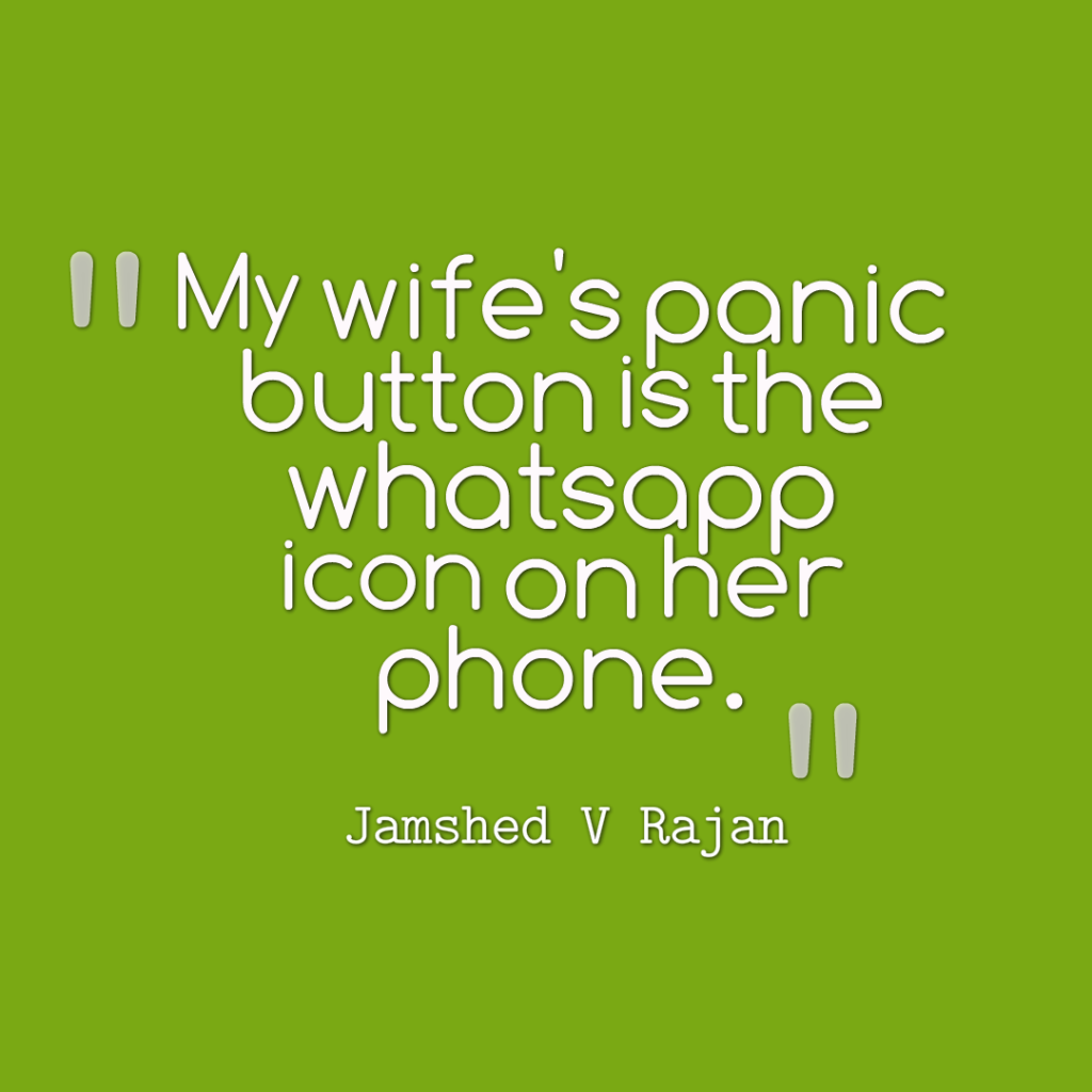 How to be safe when your wife panics