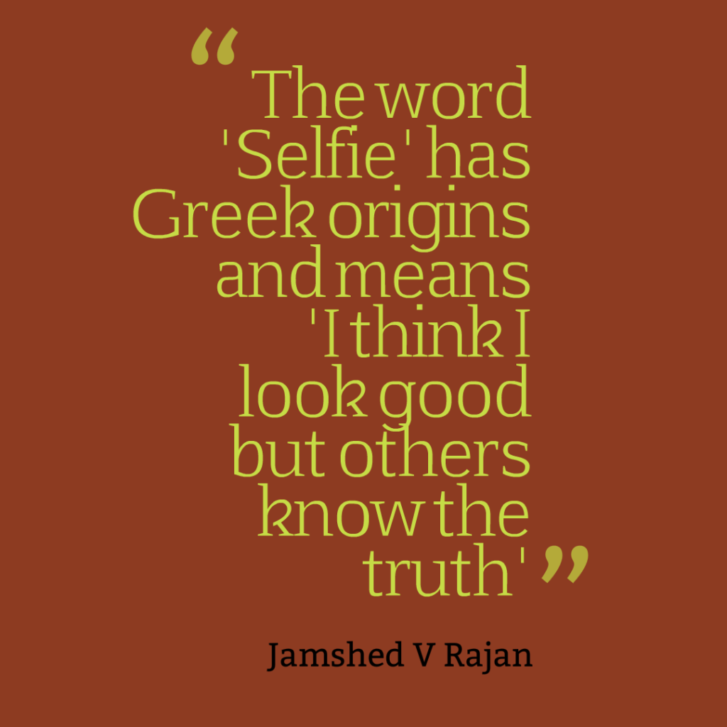 What is the origin of the word selfie
