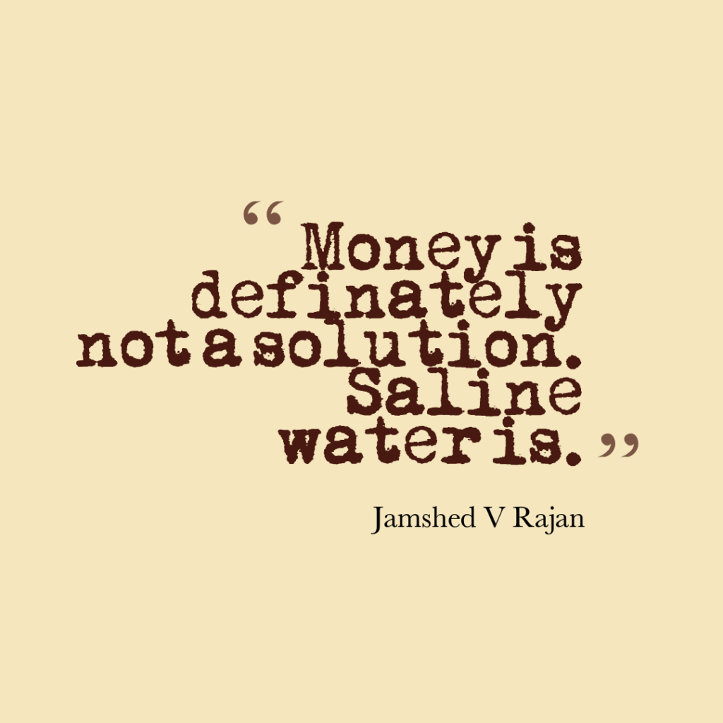 answer to the question Is money the solution