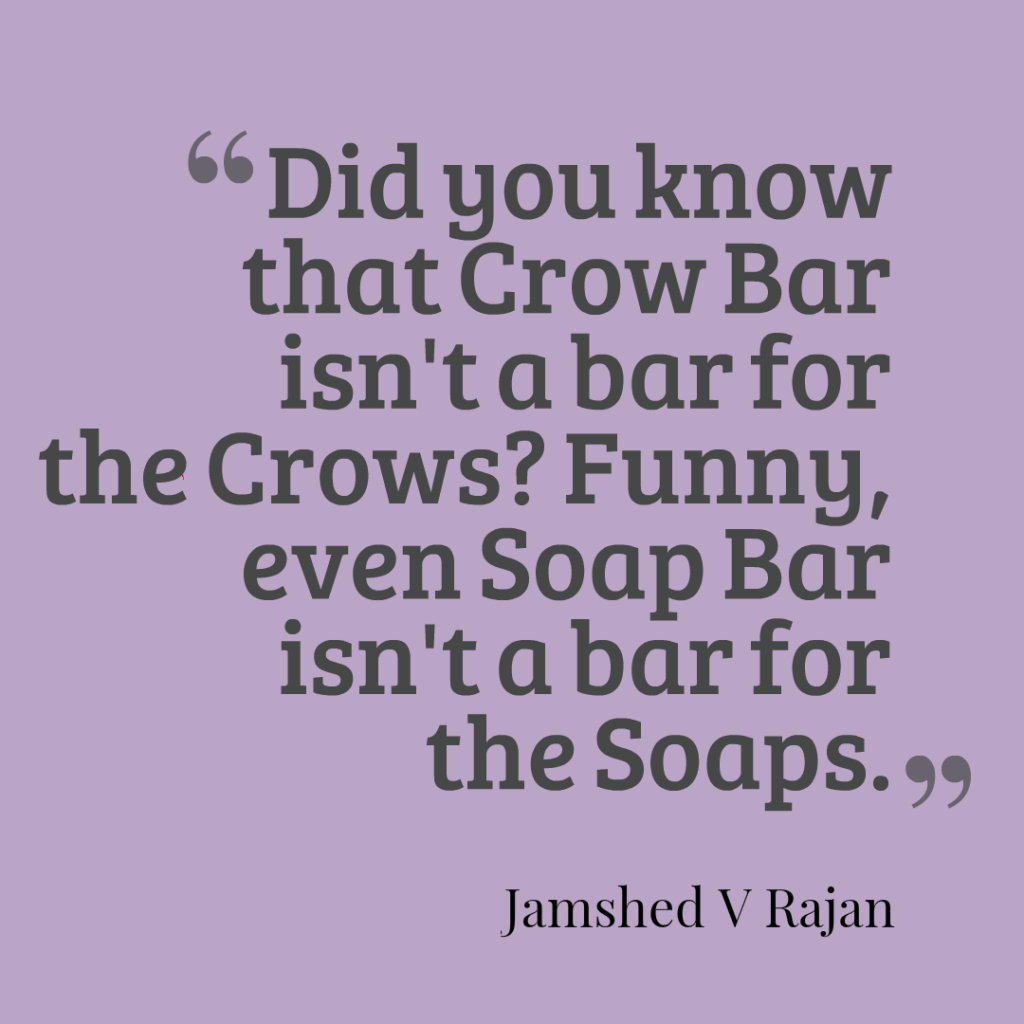 common between crowbar and soapbar