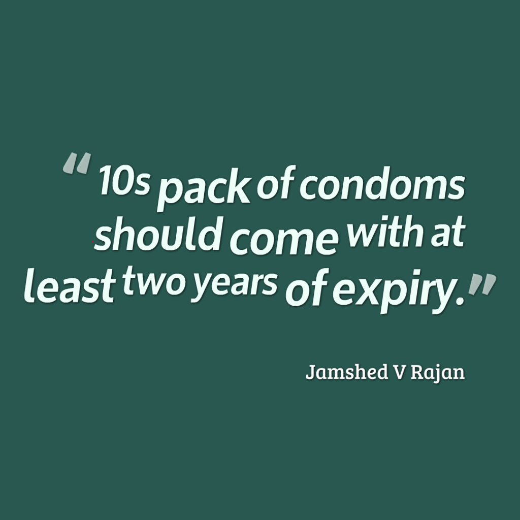 condoms pack minimum expiry
