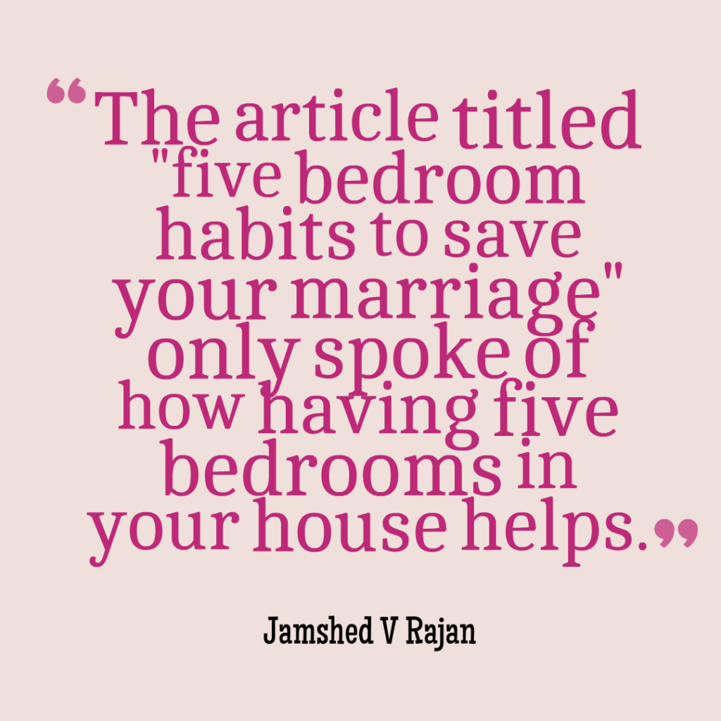 five of the best bedroom habits