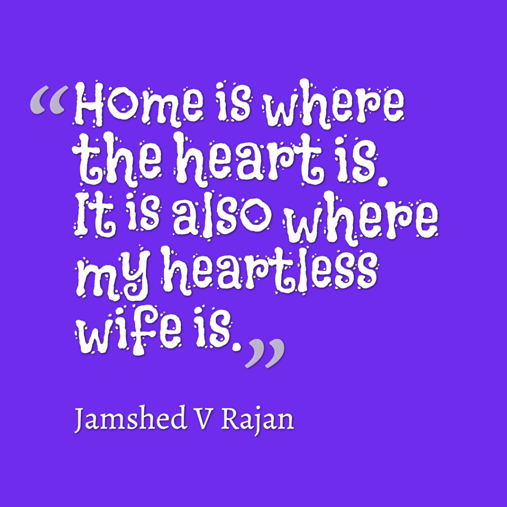 heartless wife at home