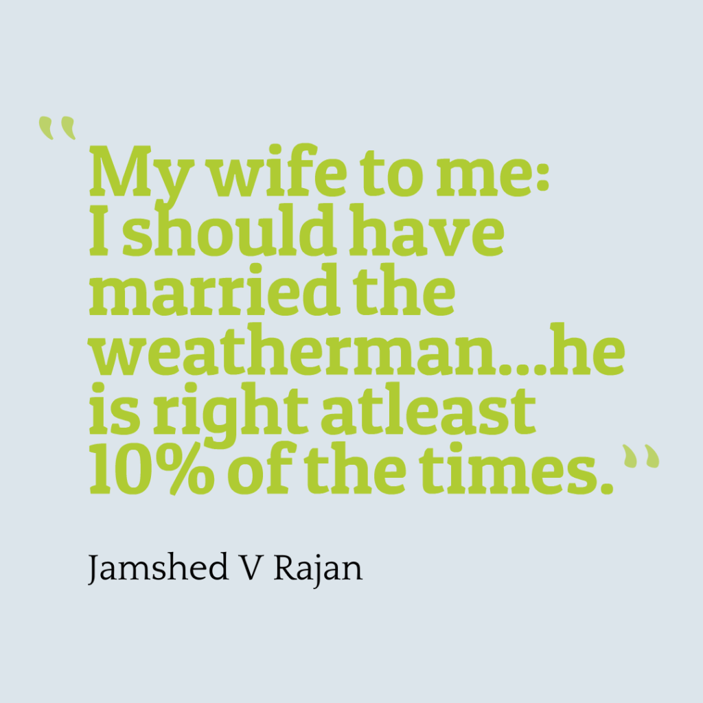 why you should marry the weatherman