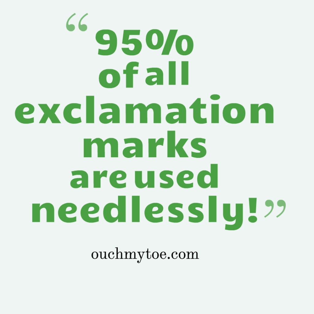 when should we use exclamation marks